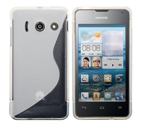 Luxburg® S-Line Design Schutzhülle für Huawei Ascend Y300 in Farbe Milchglas Weiß/Kristall, Hülle Case Case aus TPU Silikon