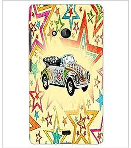 PrintDhaba Car D-5600 Back Case Cover for MICROSOFT LUMIA 540 (Multi-Coloured)