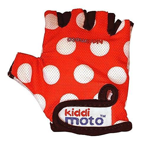 Kiddimoto GLV012S - Handschuhe mit weißen Punkten, Größe S, rot