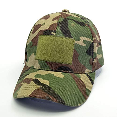 TRGFB Baseball Cap Männer Tactical Baseball Cap Männliche Camouflage Combat Caps Magic Tape Sonnenschutzkappe Army Hat   Multicam Black Woodland Green -