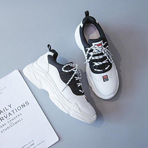 Chaussures à Plateformes Femme WSXY-A1407 Sneakers Outdoor Running Sports Gym Shoes,KJJDE white