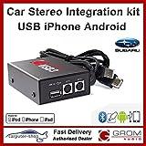 GROM kit audio Intégration USB3 pour clés USB / lecteurs, iPod / iPhone ou les téléphones Android pour Subaru Impreza Legacy Outback FORESTER TRIBECA