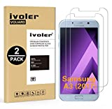 [Lot de 2] Samsung Galaxy A3 2017 Protection écran, iVoler Film Protection d'écran en Verre Trempé Glass Screen Protector Vitre Tempered pour Samsung Galaxy A3 2017 - Dureté 9H, Ultra-mince 0.20 mm, 2.5D Bords Arrondis- Anti-rayure, Anti-traces de doigts,Haute-réponse, Haute transparence- Garantie de Remplacement de 18 Mois