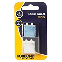 Korbond White & Blue Fabric Marking Refill x 2 Chalk Cartridges Included-Ideal for Tailoring, Quilting, Sewing, Crafting and Mending, x2
