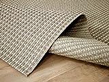 In & Outdoor Teppich Flachgewebe Natur Panama Beige Creme Mix in 3 Größen