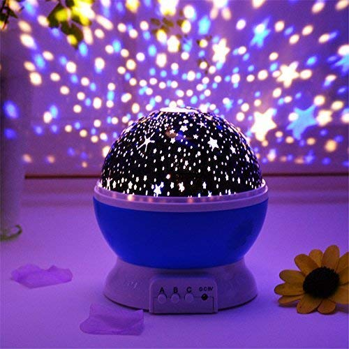 Abhsant Romantic LED Cosmos Star Master Sky Starry Night Projector Bed Light Lamp(15 x 15 x 15 cm)