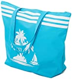 Strandtasche Damen Schultertasche Shopper Sommer TascheVerschluss Reißverschluss Größe 50 x