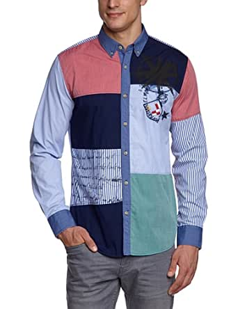 Desigual - estrella polar - chemise - coupe droite - homme - Bleu - FR: XXX-Large (Taille fabricant: XXX-Large)