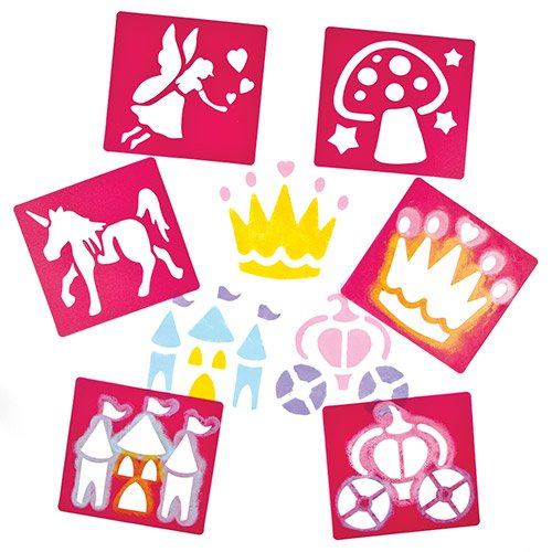 Fairy Themed Stencils for Children Create Decorate and Personalise Scenes and Collages (Pack of 6) Test