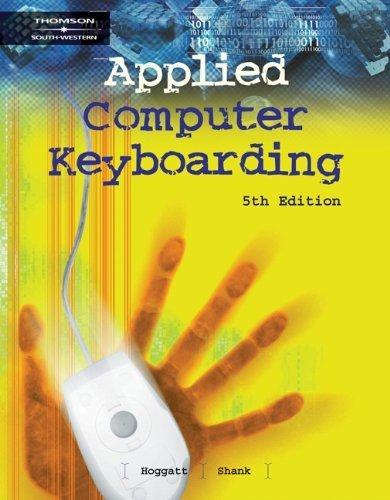 Applied Computer Keyboarding by Jack P. Hoggatt (2003-03-12)