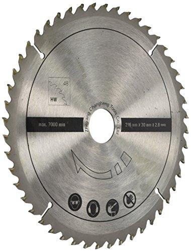 Scheppach 7901200705 Zubehör Säge/HW-Universalsägeblatt, passend für die Multifunktionssäge HM80MP, eignet Sich für Vollholz und Laminat, Durchmesser 216 x 30 x 2,8 mm / 48 Z -