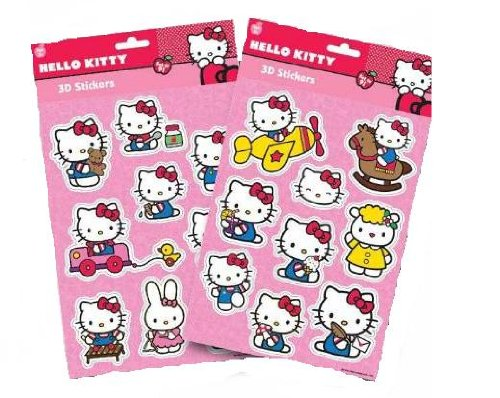 SET 9 ADESIVO CIAO KITTY 3D RELIEF (Ciao Kitty Carta)