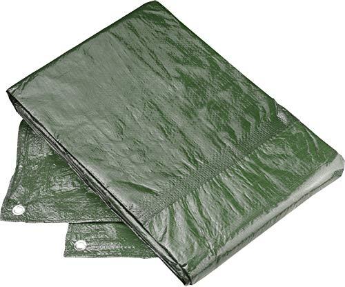 Connex Schutzplane 3 x 4 m - 80 g/m² - Beidseitig beschichtet - Wasserabweisend & UV-stabilisiert - Schimmelresistent - Aus Polyethylen / Gewebeplane / Abdeckplane / Gartenplane / FLOR80445