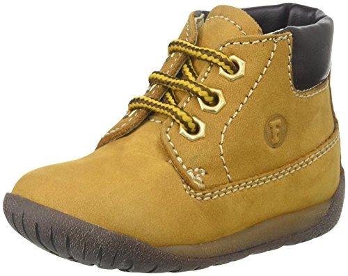 FALCOTTO - Ockerfarbener Schuh mit Schnürsenkeln, aus Wildleder, Jungen Gelb