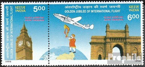 india-1629-1630-couple-completeissue-1998-air-india-stamps-for-collectors