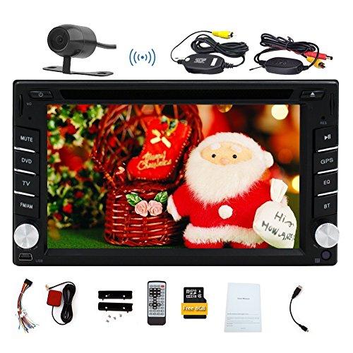 8GB GPS Navigation Double 2 DIN Autoradio-DVD-Player für Univresal Autoradio Bluetooth MP3-Radio-Video-Player in der Schlag-FM AM RDS Receiver Kopf Unitt-Monitor mit Farbe Schwarz Auto Stereo-decks
