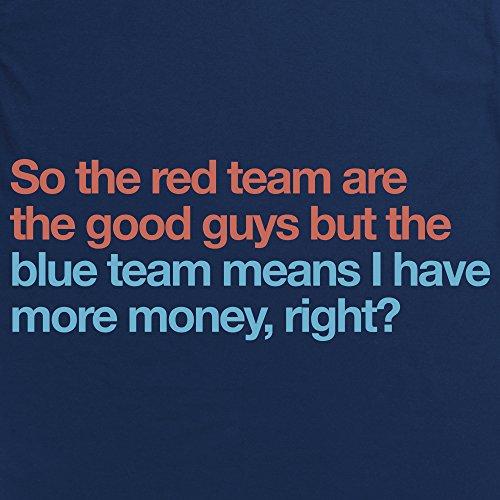 Red Team Versus Blue Team T-Shirt, Herren Dunkelblau