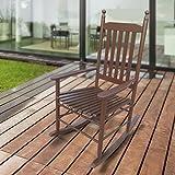 1PLUS Klassischer Schaukelstuhl aus Massivholz für den gemütlichen Komfort zuhause