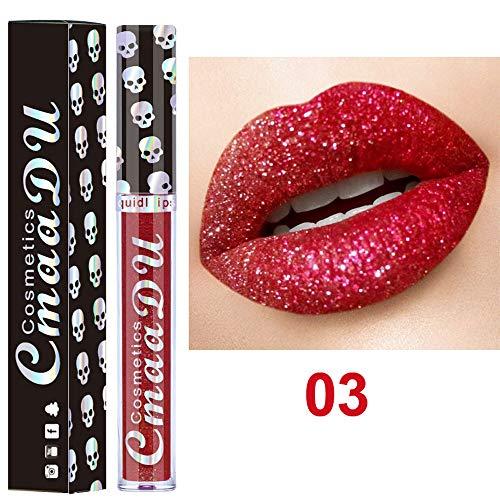 VJGOAL Lippenstift Mode Sexy Scheint Metall Lipgloss Dauerhaft Feuchtigkeitsspendend Kein Make up 8...