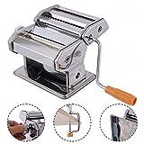 GOPLUS Nudelmaschine Edelstahl Pasta Maker Pastamaschine spaghettimaschine manuell 2 Breite 6 Stufen
