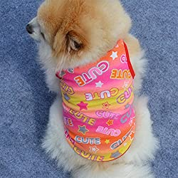 AAA226 Lovely Smiley Face Print Summer Breathable Pet Vest Sleeveless Top Clothes by AAA226