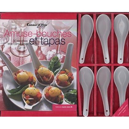 Coffret amuses-bouches et tapas : Avec 6 cuillères apéritives en porcelaine blanche