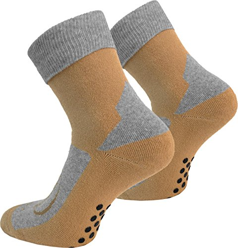 8 Paar Stopper Socken Homesocks mit rutschfester ABS Sohle und Innenfrottee in Schwarz