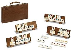 rummy de luxe en bois malette 104 pions en bak lite 4 supports bois jeux et jouets. Black Bedroom Furniture Sets. Home Design Ideas