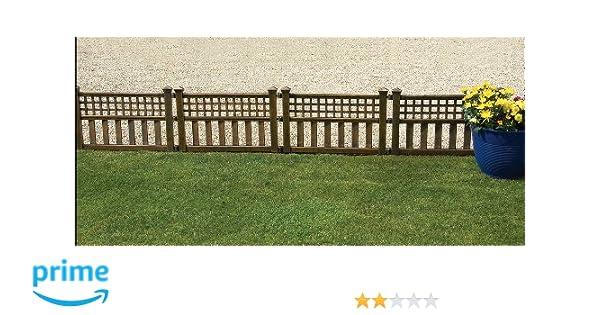 Greenhurst Von Vier Kunststoff Zaun Paneele In Bronze Gablemere 4147