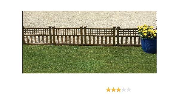 Steccato Giardino Plastica : Gablemere greenhurst set di 4 pannelli per recinzione in