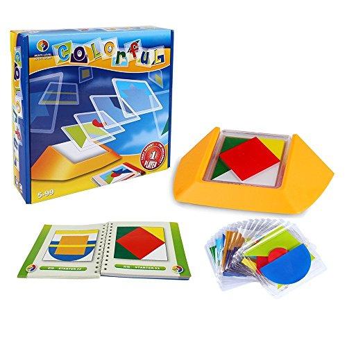 Farbcode , SainSmart Jr. 100 Challenge-Puzzle-Spiel, Entwickeln Logic Spatial Reasoning (Kleinkinder Kostüm Jigsaw Für)