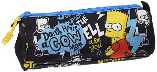 The Simpsons- Estuche portatodo Lleno 17 Piezas, Color Negro (SAFTA 811605708)