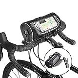 VANFLY Borsa Telaio Bici, 6 inch Impermeabile Borsa da Manubrio per Biciclette, Grande capacità Accessori per Bicicletta Touch Screen - Adatto Supporto per Telaio Anteriore Borsa Tracolla Rimovibile