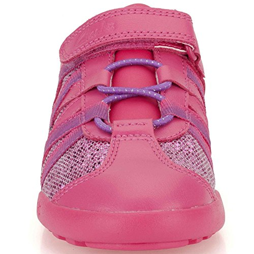 Clarks Giggle Sun Infant Girls Trainers Hot Pink 7 G