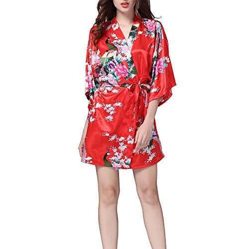 VILLAVIVI Vestido Párrafo Corto Mujer Kimono
