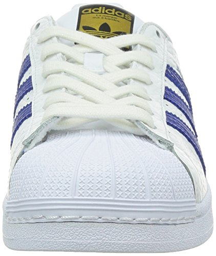 adidas Superstar Animal, Scarpe da Basket Uomo Bianco (White (Ftwr White/Collegiate Royal/Gold Met.))