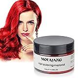 rojo Barro de Pelo, Cera para el cabello, MOFAJANG Peinado temporal Cera tintórea Crema de barro Pomadas para el cabello Moda DIY para hombres y mujeres