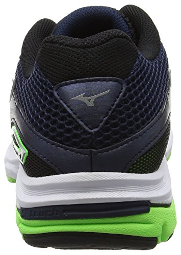 Mizuno Herren Wave Legend 4 Laufschuhe Blau (Dress Blues/silver/green Gecko)