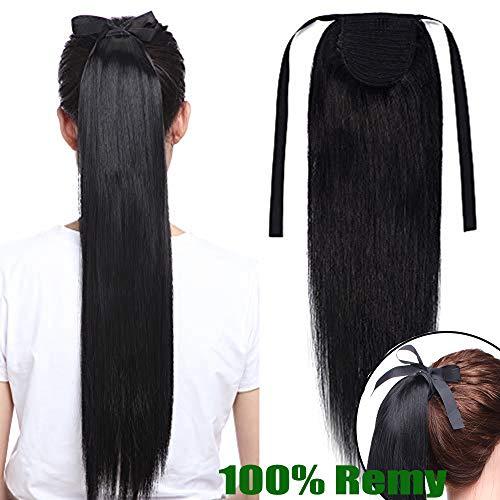Sego- coda capelli extension clip fascia unica coda di cavallo capelli veri lisci 50cm 20