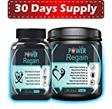 Power Regain- 1000 mg Natural Powerful Testosterone Booster Combo-30 Day Supply