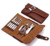 Keiby Citom Tagliaunghie Set Professionale - Grooming Kit Strumenti per Manicure e Pedicure con Bella Box (Marrone)