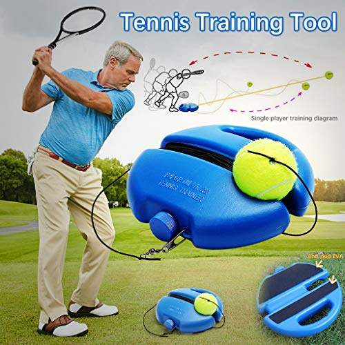 DWQuee Tennis Training Tool mit Halterung , Tennisbälle Protector Retractable Bequemes Training Tennis Tool Outdoor-Sport-Praxis
