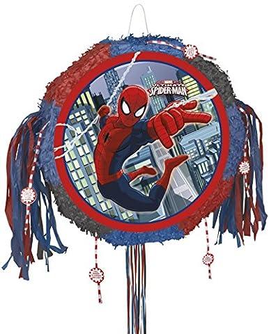 Pinata Pull Spiderman MARVEL Pop Out 45 cm Spiel für Kindergeburtstag Party NEU