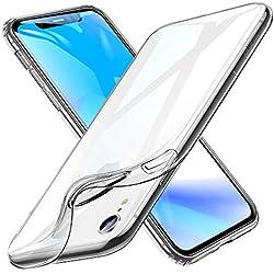 """ESR Funda iPhone XR, Funda Suave TPU Gel Ultra Fina Protección a Bordes y Cámara Compatible con Carga Inalámbrica Enjaca Apple iPhone XR de 6.1""""-Transparente"""