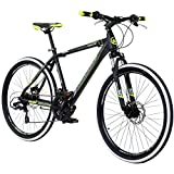 Galano 26 Zoll Toxic Mountainbike Hardtail MTB Jugendmountainbike Jugendfahrrad, Rahmengrösse:46 cm, Farbe:schwarz/grün