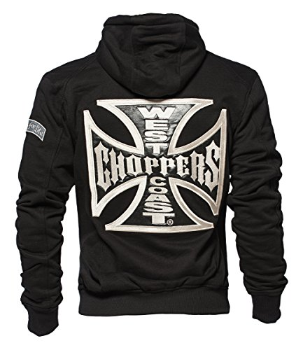 West Coast Choppers Zip Hoody Cross Panel, Farbe:black;Größe:L
