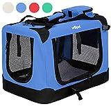 Leopet Transportbox faltbar inklusive Polster Haustier-Transportbox Hundebox Auto Box Katzen in vier fünf Größen