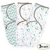 Pucksack Baby Wickel-Decke für 0-3 Monate 3er Pack mit verstellbaren...