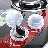 Loveso 2-Pieces Küche Gasherd Knob Cover Knopf Kunststoffabdeckung Gasherd Plastic Gas Switch Cover für die Sicherheit von Childen Kindersicherung