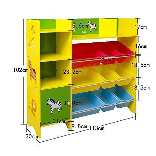 Bücherregale HUO Kinder Spielzeug Aufbewahrungsbox Vitrine Spielzimmer Schlafzimmer Kindermöbel (größe : 113cm)